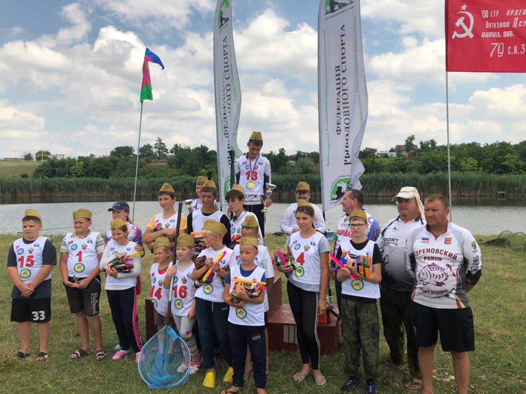 Детский рыболовный фестиваль в честь 75-й годовщины Победы